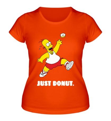 Женская футболка Гомер Симпсон, Только пончик