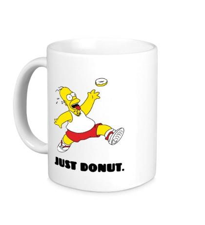 Керамическая кружка Гомер Симпсон, Только пончик