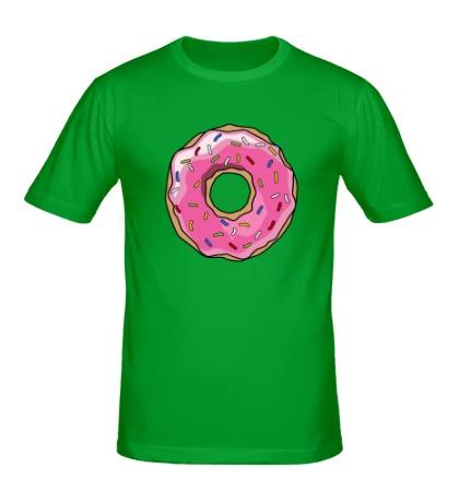Мужская футболка «Пончик Гомера Симпсона»