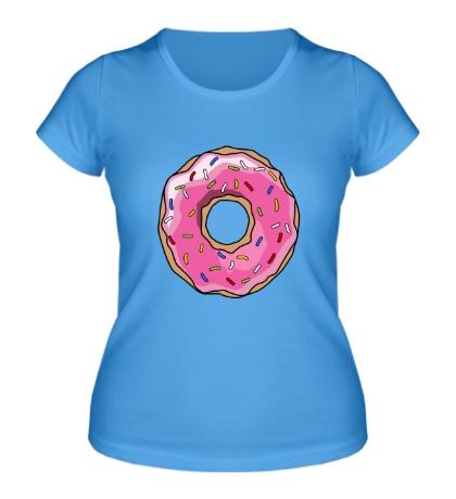 Женская футболка Пончик Гомера Симпсона