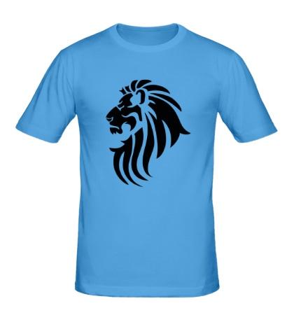 Мужская футболка Лев тату