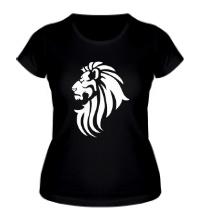 Женская футболка Лев тату