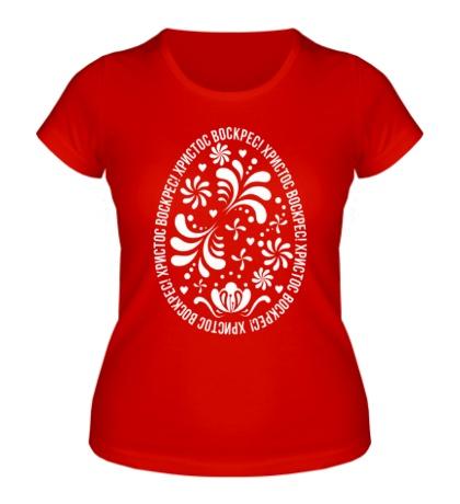 Женская футболка Христос Воскрес!