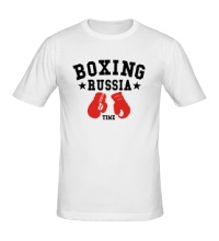 Мужская футболка Boxing Russia Time