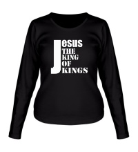 Женский лонгслив Jesus the king of kings