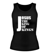 Женская майка Jesus the king of kings