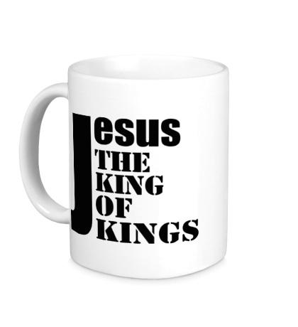 Керамическая кружка Jesus the king of kings