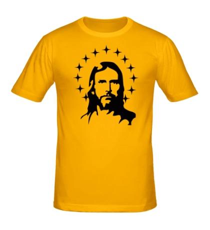 Мужская футболка Иисус с нимбом