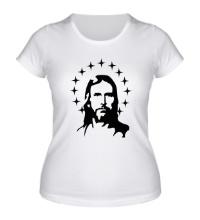 Женская футболка Иисус с нимбом