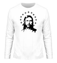 Мужской лонгслив Иисус с нимбом