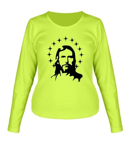 Женский лонгслив Иисус с нимбом