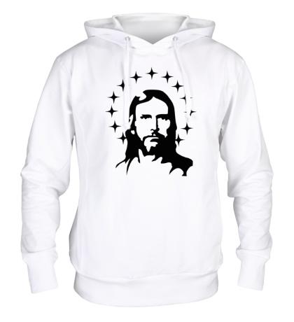 Толстовка с капюшоном Иисус с нимбом