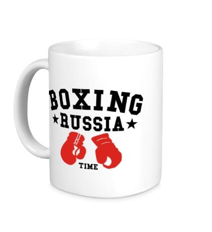 Керамическая кружка Boxing Russia Time