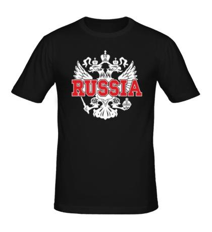 Мужская футболка Герб Russia