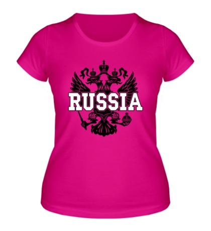 Женская футболка Герб Russia