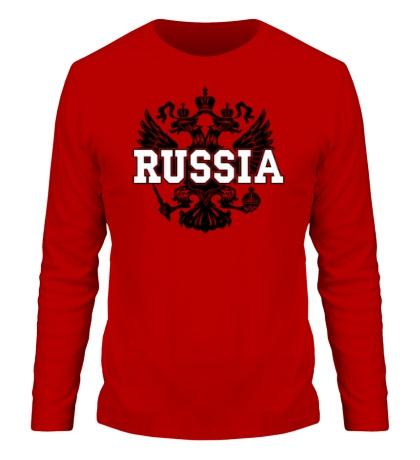 Мужской лонгслив Герб Russia