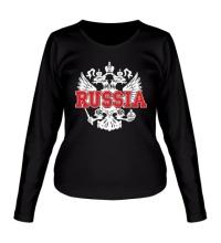 Женский лонгслив Герб Russia