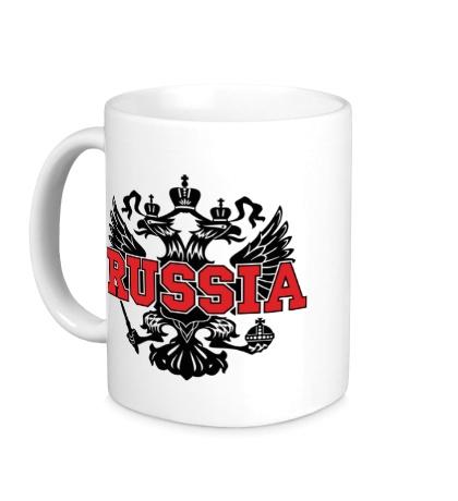 Керамическая кружка Герб Russia