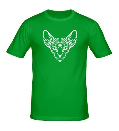 Мужская футболка Мордочка кота сфинкса