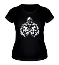 Женская футболка Атлет силач