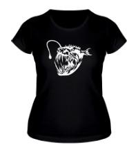 Женская футболка Зубастая пиранья