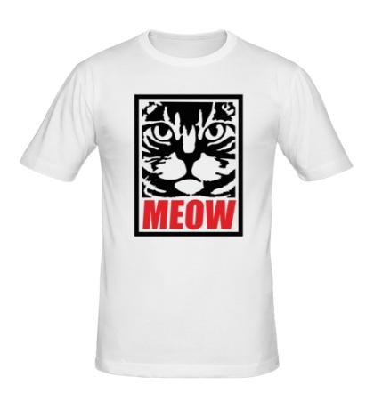 Мужская футболка Meow Poster
