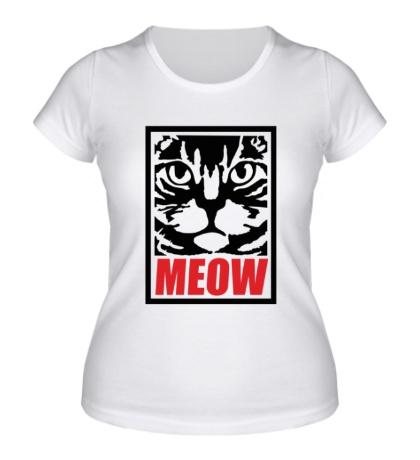 Женская футболка Meow Poster
