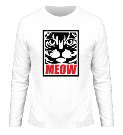 Мужской лонгслив Meow Poster