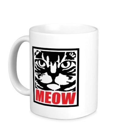 Керамическая кружка Meow Poster