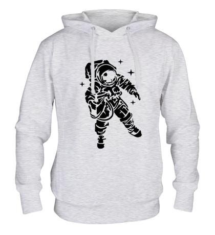 Толстовка с капюшоном Звездный астронавт