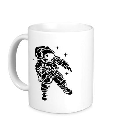 Керамическая кружка Звездный астронавт