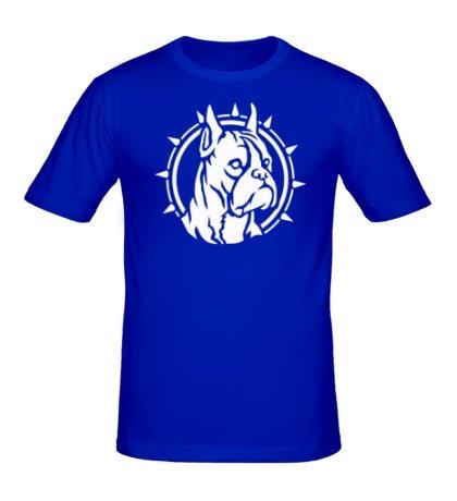Мужская футболка Собака боксер