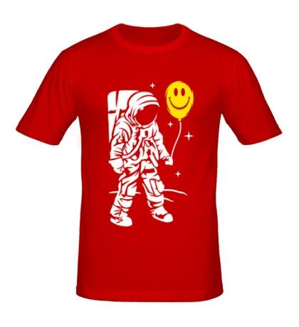 Мужская футболка Космонавт с шариком