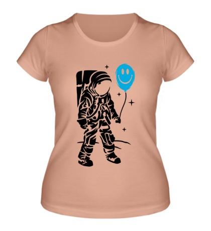Женская футболка Космонавт с шариком