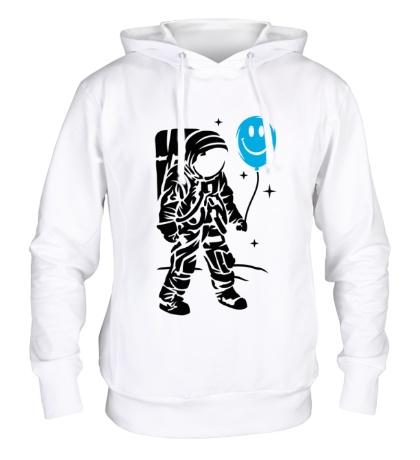 Толстовка с капюшоном Космонавт с шариком