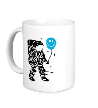 Керамическая кружка Космонавт с шариком