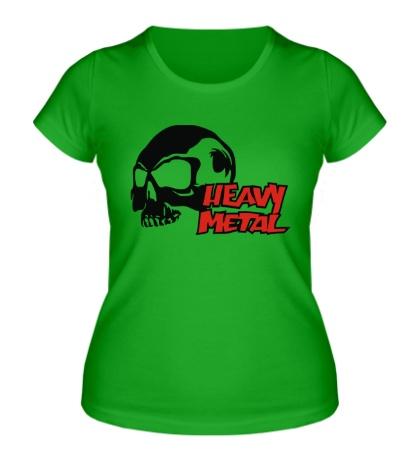 Женская футболка Heavy metal