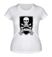Женская футболка Pirates Skull