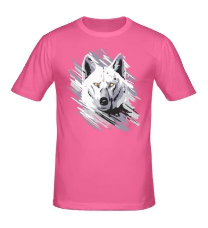 Мужская футболка Белый волк