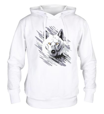 Толстовка с капюшоном Белый волк
