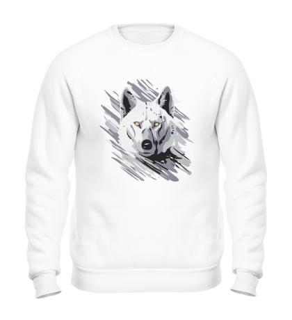 Свитшот Белый волк