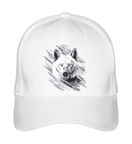 Бейсболка Белый волк