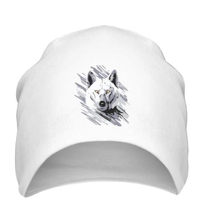 Шапка Белый волк