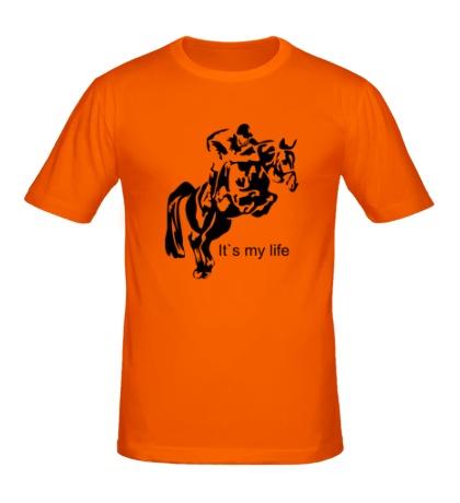 Мужская футболка Конный спорт