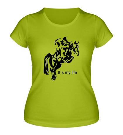 Женская футболка Конный спорт