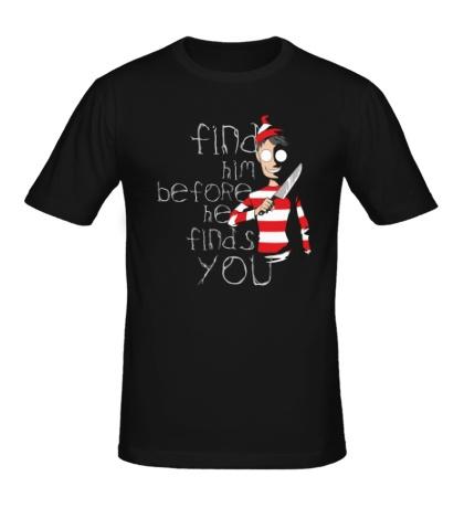 Мужская футболка Найди его!