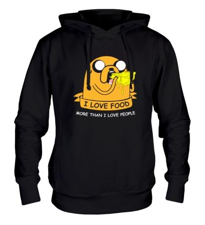 Толстовка с капюшоном Jake, I Love Food