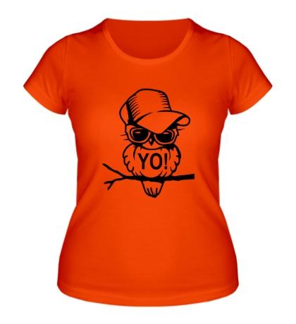 Женская футболка Сова в кепке