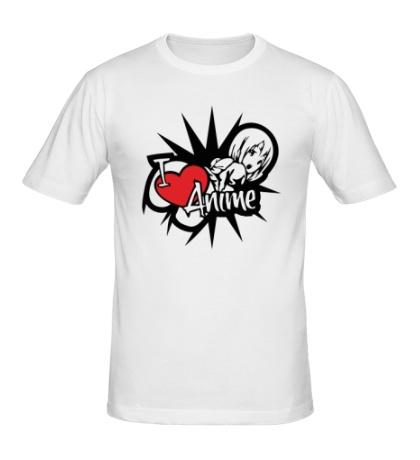 Мужская футболка I love anime girls