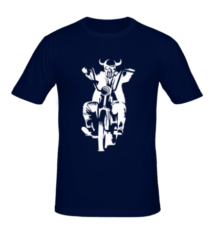 Мужская футболка Мертвый байкер